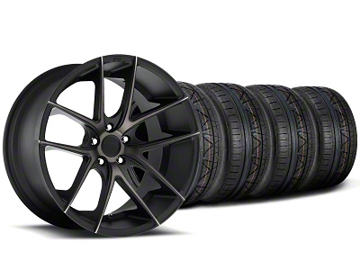 Niche Staggered Targa Black Wheel & NITTO INVO Tire Kit - 19x8.5/9.5 (05-14 All)
