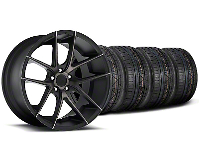 Niche Staggered Targa Black Wheel & NITTO INVO Tire Kit - 19x8.5/9.5 (05-14 All)