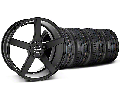 MMD Staggered 551C Black Wheel & NITTO INVO Tire Kit - 19x8.5/10 (05-14 All)