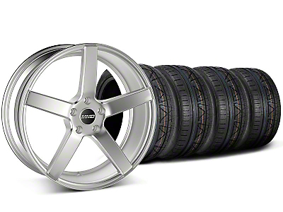 MMD Staggered 551C Silver Wheel & NITTO INVO Tire Kit - 19x8.5/10 (05-14 All)
