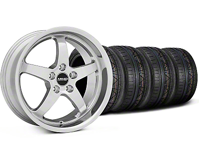 MMD Staggered Kage Polished Wheel & NITTO INVO Tire Kit - 19x8.5/10 (05-14 GT,V6)