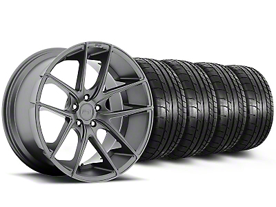 Niche Staggered Targa Anthracite Wheel & Mickey Thompson Tire Kit - 19x8.50/9.5 (05-14 All)
