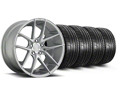 Niche Staggered Targa Matte Silver Wheel & Mickey Thompson Tire Kit - 19x8.5/9.5 (05-14 All)