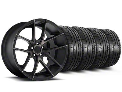 Niche Staggered Targa Black Wheel & Mickey Thompson Tire Kit - 19x8.5/9.5 (05-14 All)