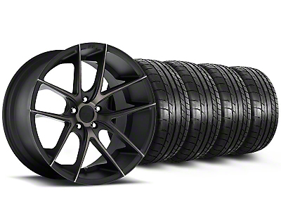 Staggered Niche Targa Black Wheel & Mickey Thompson Tire Kit - 19x8.5/9.5 (05-14 All)