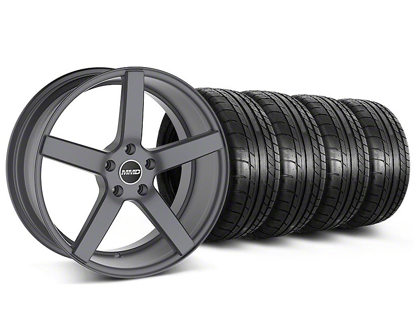 MMD Staggered 551C Charcoal Wheel & Mickey Thompson Tire Kit - 19x8.5/10 (05-14 All)