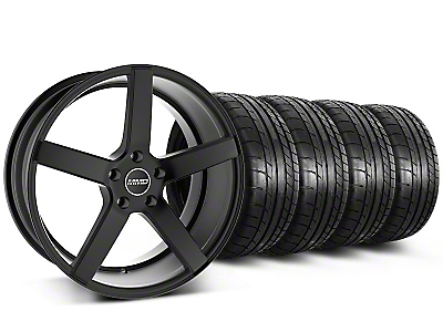 MMD Staggered 551C Black Wheel & Mickey Thompson Tire Kit - 19x8.5/10 (05-14 All)
