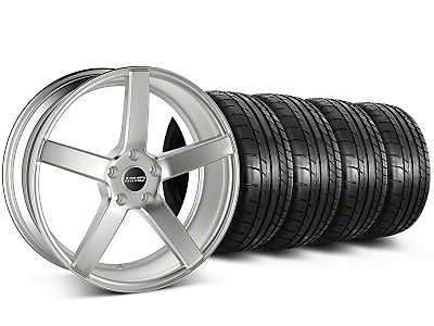MMD Staggered 551C Silver Wheel & Mickey Thompson Tire Kit - 19x8.5/10 (05-14 All)