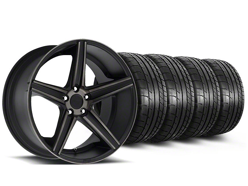 Staggered Niche Apex Matte Black Wheel & Mickey Thompson Tire Kit - 20x8.5/10 (05-14 All)