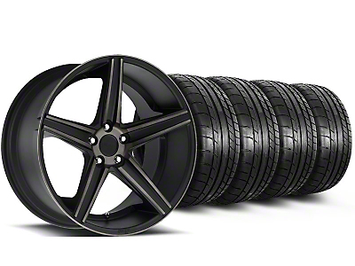 Niche Staggered Apex Matte Black Wheel & Mickey Thompson Tire Kit - 20x8.5/10 (05-14 All)