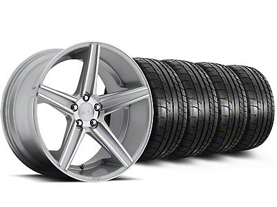 Niche Staggered Apex Machined Silver Wheel & Mickey Thompson Tire Kit - 20x8.5/10 (05-14 All)