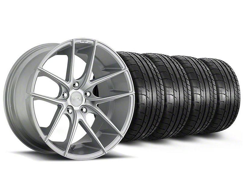 Staggered Niche Targa Matte Silver Wheel & Mickey Thompson Tire Kit - 20x8.5/10 (05-14 All)