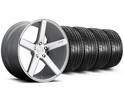 Niche Staggered Milan Silver Wheel & Mickey Thompson Tire Kit - 20x8.5/10 (05-14 All)