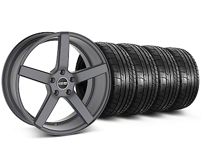 MMD Staggered 551C Charcoal Wheel & Mickey Thompson Tire Kit - 20x8.5/10 (05-14 All)