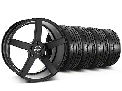 MMD Staggered 551C Black Wheel & Mickey Thompson Tire Kit - 20x8.5/10 (05-14 All)