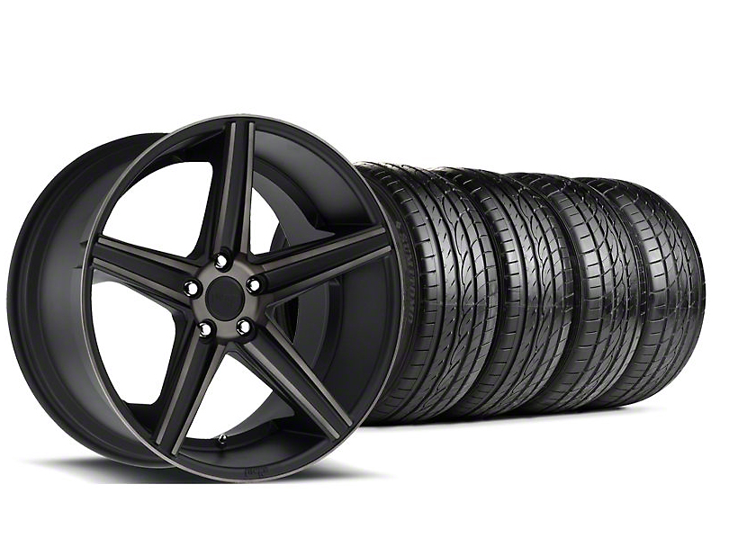 Staggered Niche Apex Matte Black Wheel & Sumitomo Tire Kit - 20x8.5/10 (05-14 All)