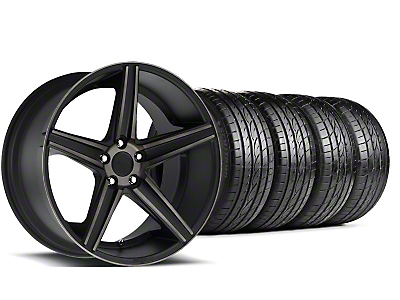 Niche Staggered Apex Matte Black Wheel & Sumitomo Tire Kit - 20x8.5/10 (05-14 All)