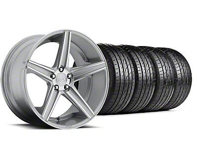 Staggered Niche Apex Machined Silver Wheel & Sumitomo Tire Kit - 20x8.5/10 (05-14 All)