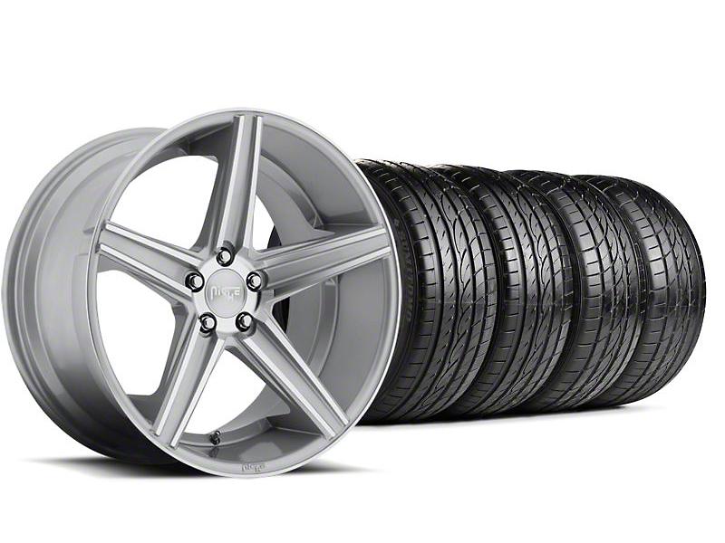 Niche Staggered Apex Machined Silver Wheel & Sumitomo Tire Kit - 20x8.5/10 (05-14 All)