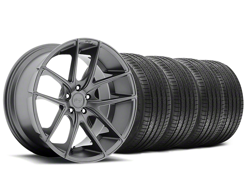 Staggered Niche Targa Matte Anthracite Wheel & Sumitomo Tire Kit - 20x8.5/10 (05-14 All)