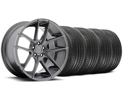 Niche Staggered Targa Matte Anthracite Wheel & Sumitomo Tire Kit - 20x8.5/10 (05-14 All)