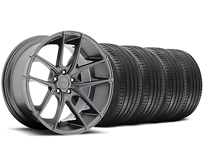 Niche Staggered Targa Matte Anthracite Wheel & Sumitomo Tire Kit - 20x8.5/10 (05-14 All)