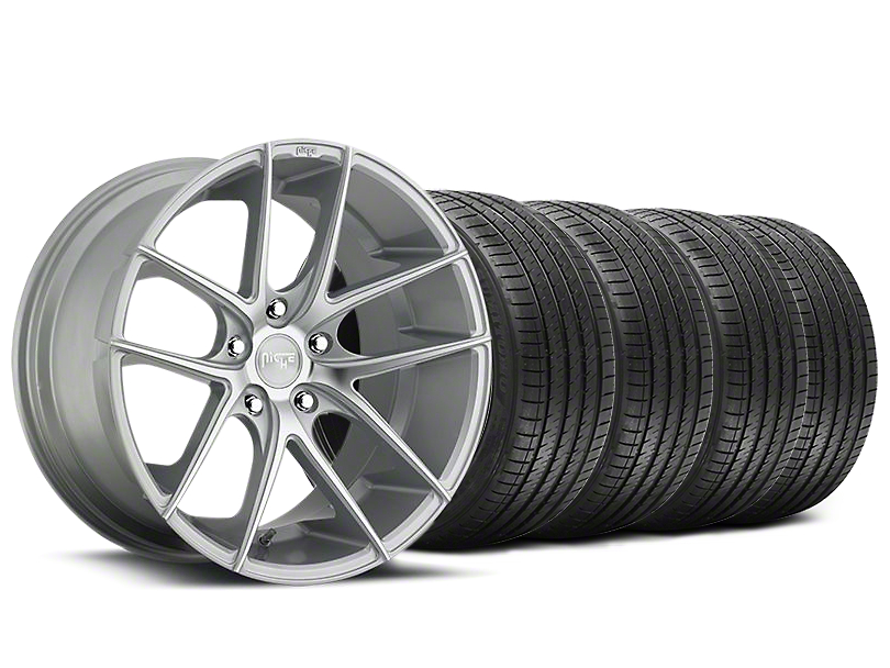 Staggered Niche Targa Matte Silver Wheel & Sumitomo Tire Kit - 20x8.5/10 (05-14 All)