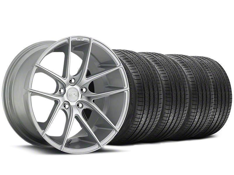 Niche Staggered Targa Matte Silver Wheel & Sumitomo Tire Kit - 20x8.5/10 (05-14 All)