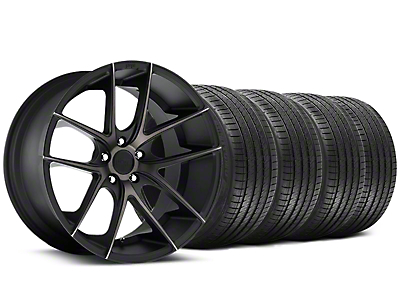 Niche Staggered Targa Black Wheel & Sumitomo Tire Kit - 20x8.5/10 (05-14 All)