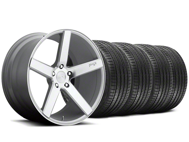 Staggered Niche Milan Silver Wheel & Sumitomo Tire Kit - 20x8.5/10 (05-14 All)