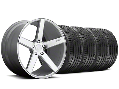Niche Staggered Milan Silver Wheel & Sumitomo Tire Kit - 20x8.5/10 (05-14 All)
