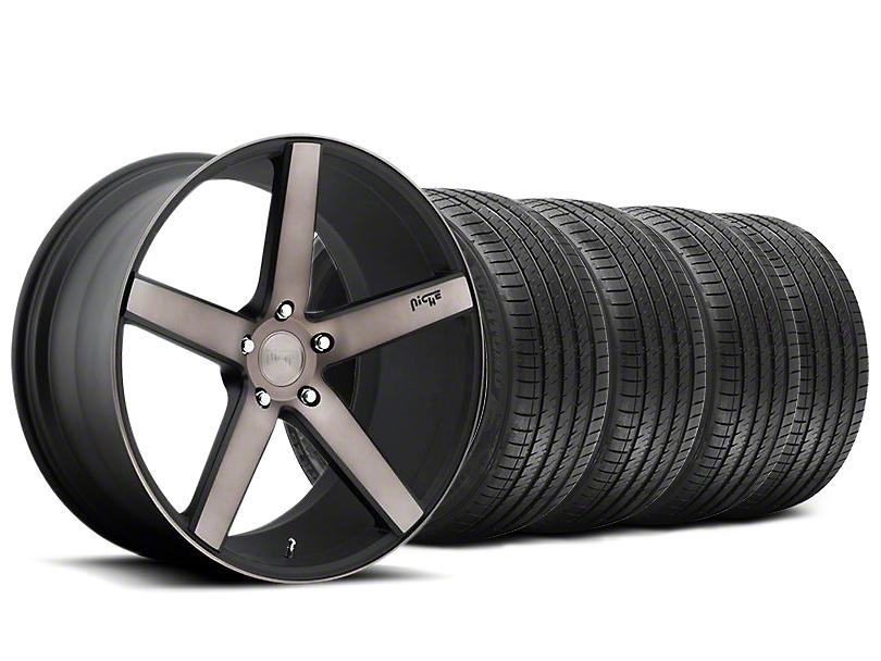 Niche Staggered Milan Matte Black Machined Wheel & Sumitomo Tire Kit - 20x8.5/10 (05-14 All)