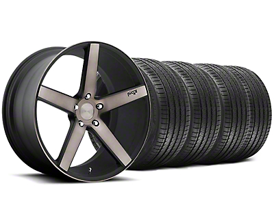 Niche Staggered Milan Matte Black Machined Wheel & Sumitomo Tire Kit - 20x8.5/10 (05-14 All)