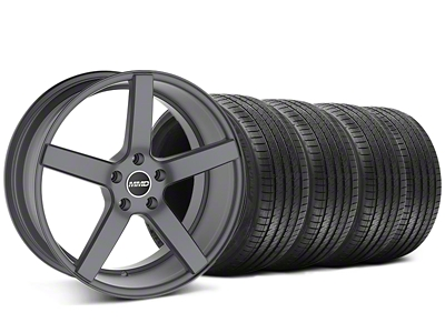 MMD Staggered 551C Charcoal Wheel & Sumitomo Tire Kit - 20x8.5/10 (05-14 All)