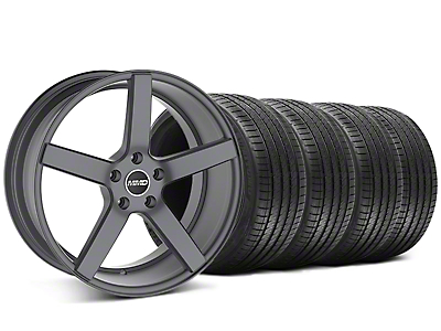 Staggered MMD 551C Charcoal Wheel & Sumitomo Tire Kit - 20x8.5/10 (05-14 All)