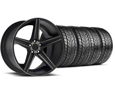 Niche Staggered Apex Matte Black Wheel & NITTO Tire Kit - 20x8.5/10 (05-14 All)