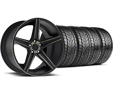 Niche Staggered Apex Matte Black Wheel & NITTO Tire Kit - 20x8.5/10 (05-14 All)