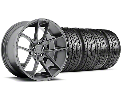 Niche Staggered Targa Matte Anthracite Wheel & NITTO Tire Kit - 20x8.5/10 (05-14 All)