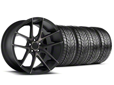 Niche Staggered Targa Black Wheel & NITTO Tire Kit - 20x8.5/10 (05-14 All)