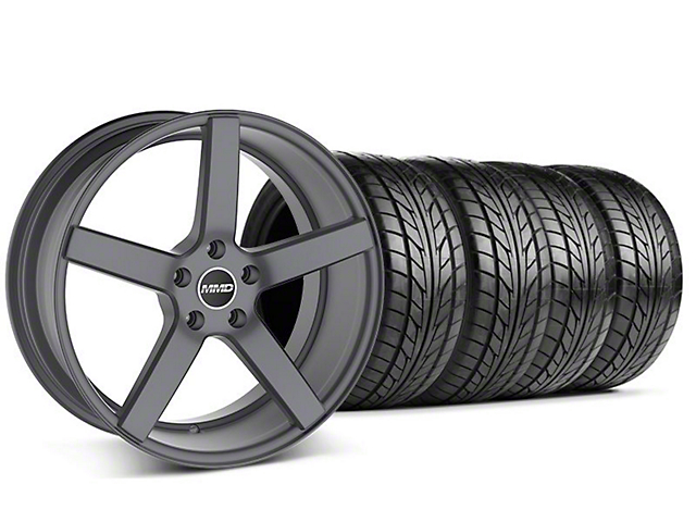 MMD Staggered 551C Charcoal Wheel & NITTO Tire Kit - 20x8.5/10 (05-14 All)