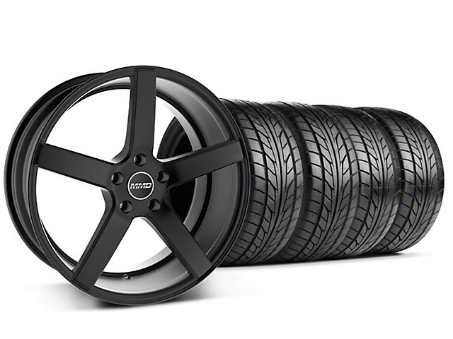 MMD Staggered 551C Black Wheel & NITTO Tire Kit - 20x8.5/10 (05-14 All)