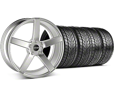 MMD Staggered 551C Silver Wheel & NITTO Tire Kit - 20x8.5/10 (05-14 All)