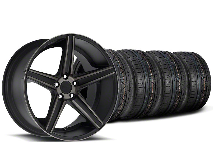 Staggered Niche Apex Matte Black Wheel & NITTO INVO Tire Kit - 20x8.5/10 (05-14 All)