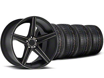 Niche Staggered Apex Matte Black Wheel & NITTO INVO Tire Kit - 20x8.5/10 (05-14 All)
