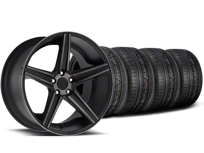 Staggered Niche Apex Matte Black Wheel & NITTO INVO Tire Kit - 20x8.5/10 (05-14 All)
