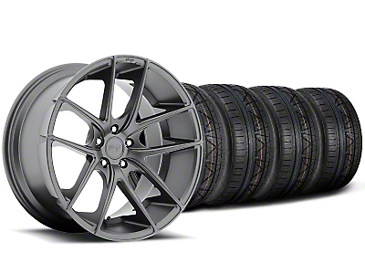 Niche Staggered Targa Matte Anthracite Wheel & NITTO INVO Tire Kit - 20x8.5/10 (05-14 All)