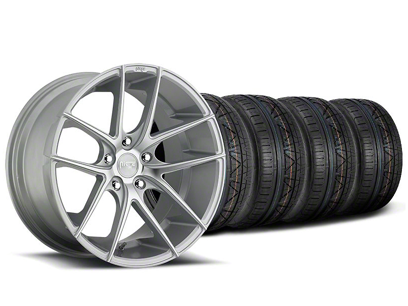 Staggered Niche Targa Matte Silver Wheel & NITTO INVO Tire Kit - 20x8.5/10 (05-14 All)