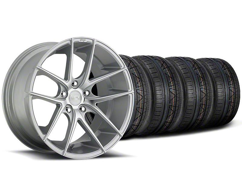 Niche Staggered Targa Matte Silver Wheel & NITTO INVO Tire Kit - 20x8.5/10 (05-14 All)