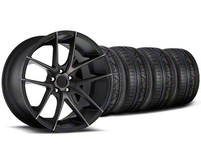 Niche Staggered Targa Black Wheel & NITTO INVO Tire Kit - 20x8.5/10 (05-14 All)