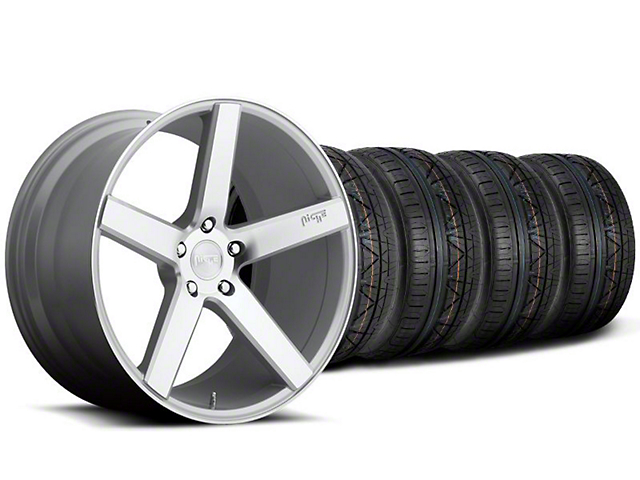 Niche Staggered Milan Silver Wheel & NITTO INVO Tire Kit - 20x8.5/10 (05-14 All)